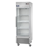 Single Glass Door Upright Reach-In Refrigerator 23 Cu.Ft. Capacity with Stainless Steel Exterior and Bottom-Mount Compressor (Arctic Air AGR23)
