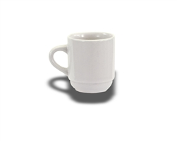 Crestware A.D. Cup, 3-1/2 oz., Ceramic, Alpine White, (AL10)