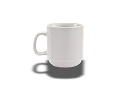 Crestware 10-Ounce Stackable Ceramic Mug, Alphine White, (AL15)