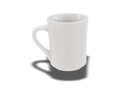 Crestware Coffee Mug, 8-1/2 oz., ceramic, Alphine White, (AL16)