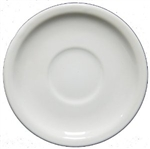 "Crestware Saucer, 6"", narrow rim, ceramic, Alphine White, (AL21)"