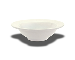 "Crestware Bowl, 14 oz., 7-1/2"", narrow rim, ceramic, Alphine White, (AL35)"