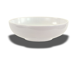 "Crestware Nappie Bowl, 50 oz., 9"", round, footed, ceramic, Alphine White, (AL38)"