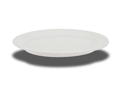 "Crestware Platter, 9-5/8"" x 8"", oval, narrow rim, ceramic, Alphine White, (AL51)"