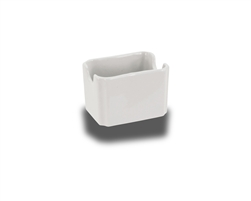 "Crestware Sugar Packet Holder, 3-3/8"", ceramic, Alphine White, (AL68)"
