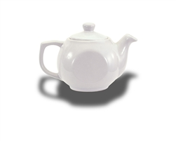 Crestware Teapot, 14 oz., with lid, ceramic, Alphine White, (AL74)