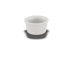 "Crestware Ramekin, 3-1/2 oz., 3"" diameter, plain, ceramic, Alphine White, (AL76)"