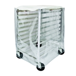Clear Cover for Winco 10-Slot Sheet Pan Rack - 3 Mil Plastic with Zippers (ALRK-10-CV)