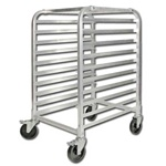 Winco Aluminum 10 Tier Sheet Pan Rack, (ALRK-10BK)