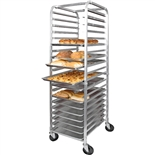 20 Pan Capacity End Loading Sheet Pan Rack - Aluminum with Casters (Winco ALRK-20)