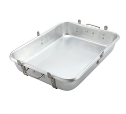 Winco Aluminum Roast Pan With Straps & Lugs, (ALRP-1824L)