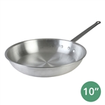 "10"" Aluminum Fry Pan 3.5 mm Thick with Riveted Handle (Thunder Group ALSKFP003C)"