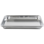 "One-Eighth Size 10"" x 6"" Sheet Pan 20-Gauge Aluminum (Thunder Group ALSP1006)"