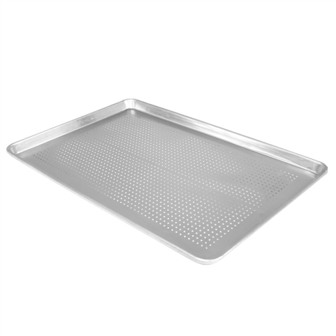 "Perforated Full-Size 18"" x 26"" Sheet Pan 20-Gauge Aluminum (Thunder Group ALSP1826PF)"