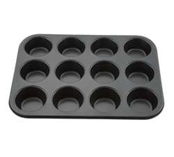 Winco 12 Cup Non-Stick Muffin Pan - Tin Plate, (AMF-12NS)