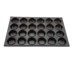Winco 24 Cup Non-Stick Muffin Pan - Heavy Aluminum, (AMF-24NS)