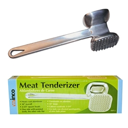 Winco 2-Sided Meat Tenderizer - Aluminum, (AMT-2)