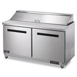 2-Door Mega Top Sandwich / Salad Food Prep Table Refrigerator - 60 Inches Wide (Arctic Air AMT60R)