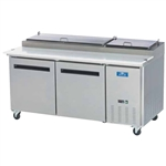 Arctic Air Two Door Refrigerated Pizza Prep Table, With (9) 1/3 Size Pans, (APP71R)