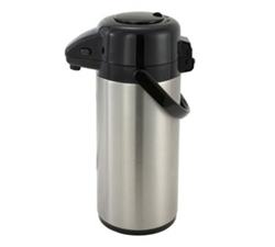 Winco Vacuum Server 2.5 Liter, Push Button, Stainless Steel Liner, (APSP-925)
