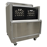 Norlake 35-Inch Open Front Milk Cooler, (8) Case Capacity, (AR082SSS/0)