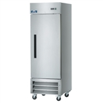 1-Door Upright Reach-In Refrigerator 23 Cu.Ft. Capacity with Stainless Steel Exterior and Bottom-Mount Compressor (Arctic Air AR23)