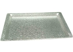 Winco Acrylic Silver Tray With Snake Texture, (AST-1S)