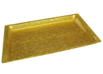 Winco Acrylic Gold Tray With Snake Texture, (AST-2G)