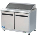 Arctic Air 48-Inch Wide Two Door Sandwich / Salad Food Prep Table, With (12) 1/6 Size Pans, (AST48R)