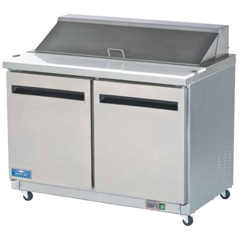 2-Door Sandwich / Salad Food Food Prep Table Refrigerator - 48 Inches Wide (Arctic Air AST48R)