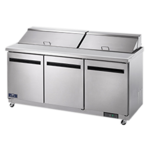3-Door Sandwich / Salad Food Food Prep Table Refrigerator - 72 Inches Wide (Arctic Air AST72R)