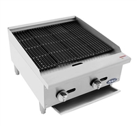 "Atosa Lava Rock Charbroiler Natural Gas - 24"" Wide (ATCB-24)"
