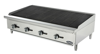 "Atosa Lava Rock Charbroiler Natural Gas - 48"" Wide (ATCB-48)"
