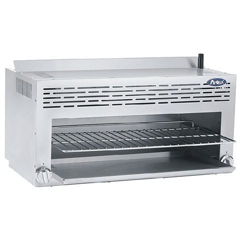 36 Inch Wide Cheese Melter Finishing Oven with (2) Infrared Burners - Natural Gas - (Atosa CookRite ATCM-36)