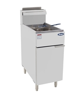 Atosa ATFS-40 Natural Gas Floor Model Commercial Deep Fryer - 40 Lb., 102,000 BTUs