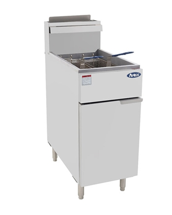 Atosa ATFS-50 Natural Gas Floor Model Commercial Deep Fryer - 50 Lb., 136,000 BTUs