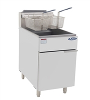 Atosa ATFS-75 Natural Gas Floor Model Commercial Deep Fryer - 75 Lb., 170,000 BTUs