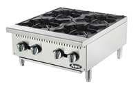 "Atosa 4-Burner Commercial Countertop Hot Plate - 24"" Wide (ATHP-24-4)"