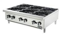 "Atosa 6-Burner Commercial Countertop Hot Plate - 36"" Wide (ATHP-36-6)"