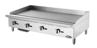 "Atosa Countertop Griddle Natural Gas with Manual Controls - 48"" Wide (ATMG-48)"