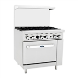 6-Burner Top 36 Inch Commercial Restaurant Range with Standard Oven - (Atosa ATO-6B)