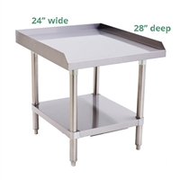 "Atosa 16-Gauge Stainless Steel Equipment Stand - 24"" wide x 28"" deep (ATSE-2824)"