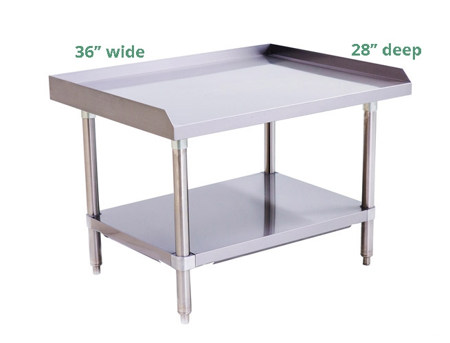 Atosa Gauge Stainless Steel Equipment Stand Wide X Deep - 16 gauge stainless steel table