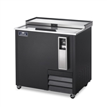 37 Inch Wide Bottle Cooler with  Stainless Steel Slide Top Lid - Black Exterior - (Arctic Air AUB36R)
