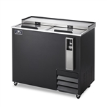 49-1/2 Inch Wide Bottle Cooler with (2) Stainless Steel Slide Top Lids - Black Exterior - (Arctic Air AUB50R)