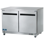 "Arctic Air AUC48F 48"" 2-Door Undercounter Worktop Freezer"