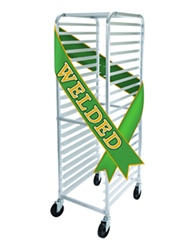 Winco AWRK-20 Welded Aluminum Portable 20 Tier Sheet Pan Rack