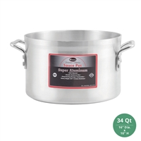 "Winco AXAP-34 Winware Super Aluminum Sauce Pot - 34 Qt., 4mm ( 3/16"") Thick"