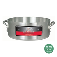 "Winco AXHB-18 Winware Heavy Duty Super Aluminum Brazier Pan - 18 Qt., 6mm ( 1/4"") Thick"