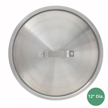 "Winco AXS-20C Winware Super Aluminum 10"" Diameter Cover, for Winco AXS-20/24, AXAP-14, AXST-5, AXHH-20/24, AXHA-14 Stock Pots, Sauce Pots, Braziers, and Saute Pans"